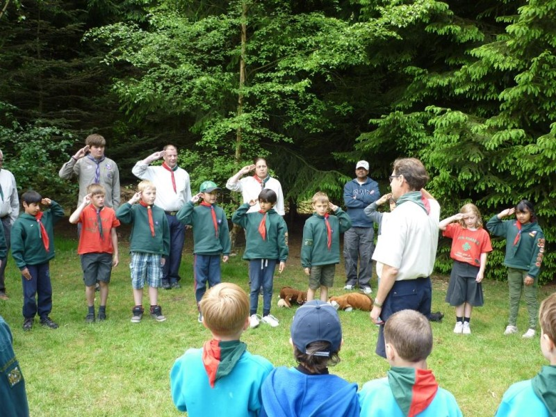 Family Camp closing Cubs